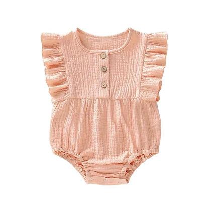 Baby Body Musselin in rosa von Little Indians