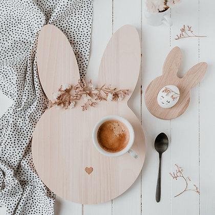Frühstücksbrettchen Hase von Eulenschnitt