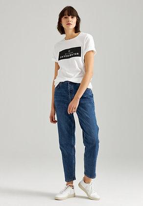 Straight Cropped Jeans in mittelblau von Thokk Thokk