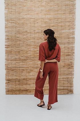 Jumpsuit Vibha in berry von J-Label