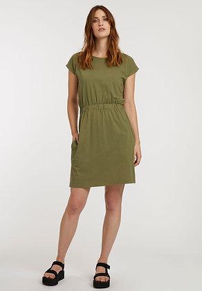 Square Dress in oliv von ThokkThokk