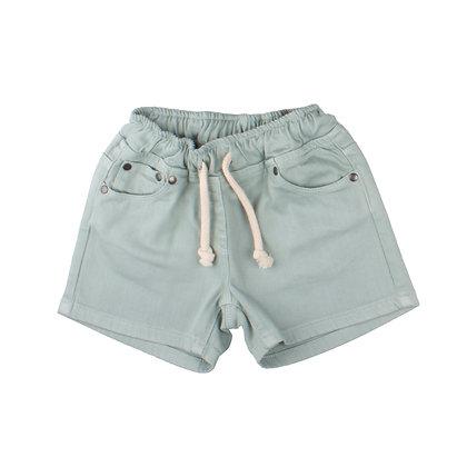 Jeans Shorts mit elastischem Bund in denim mist von Walkiddy