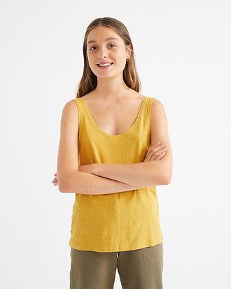 Tank Top aus Hanf in gelb von Thinking Mu