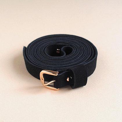 Gürtel Double Belt BIO schwarz von Renske Versluijs