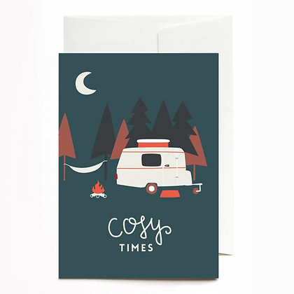 "Grußkarte ""Cosy Times"" von Roadtyping"