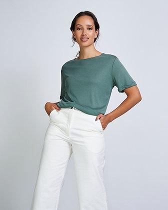 Boyfriend Shirt in Dark Mint von Jan n June