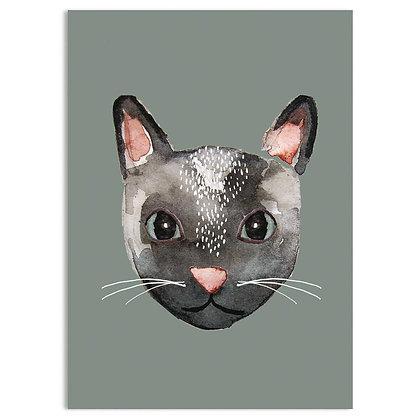 Postkarte Katze von Nuukk