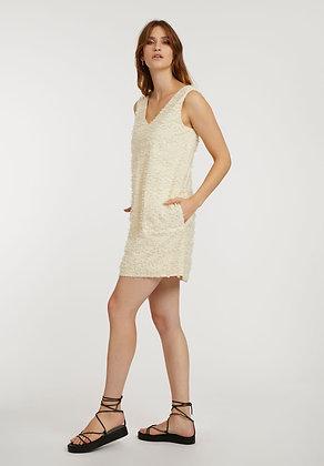 V-Neck Dress in cloud cream von ThokkThokk