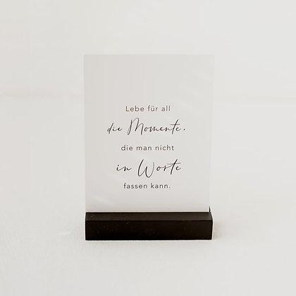 Postkartenständer schwarz 10,5 cm im 2er Set von Eulenschnitt