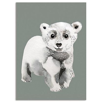 Postkarte Eisbär von Nuukk