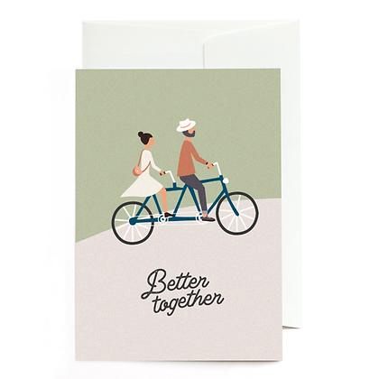 "Grußkarte ""Better together"" von Roadtyping"