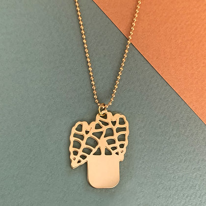 Kette Alocasia Polly golden necklace von AllThingsWeLike