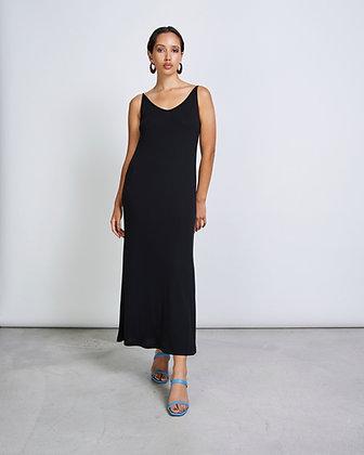 Midi Dress in schwarz von Jan n June
