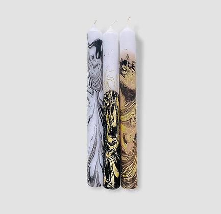 Kerzen 3er-Set Dip Dye Marble Jupiter von Pink Stories