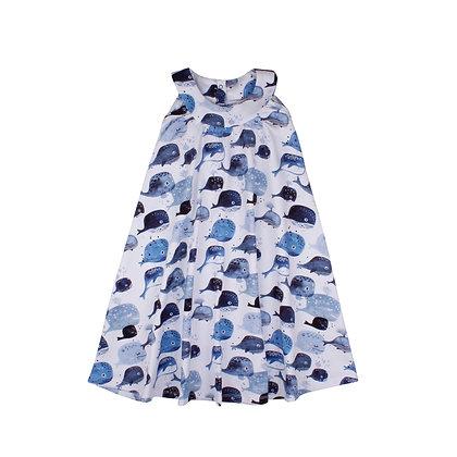Dress Flared Baby Whales von Walkiddy