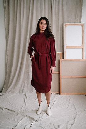 Ila Midi dress in rhubarb von J-Label