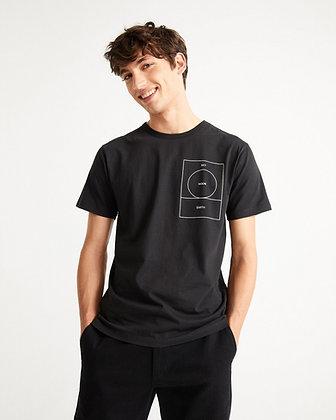 Ryan Moon Shirt in schwarz von Thinking Mu