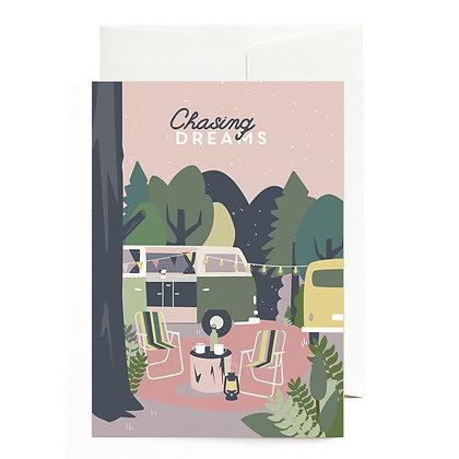 """Grußkarte """"Chasing Dreams"""" von Roadtyping"""
