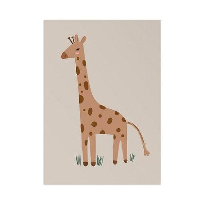 Kunstdruck Giraffe von Little Otja