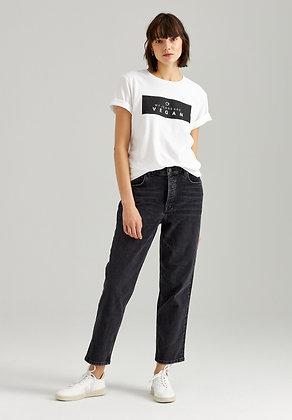 Straight Cropped Jeans in dunkelgrau von Thokk Thokk
