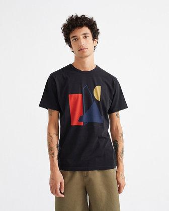 Schwarzes Shirt Abstract von Thinking Mu