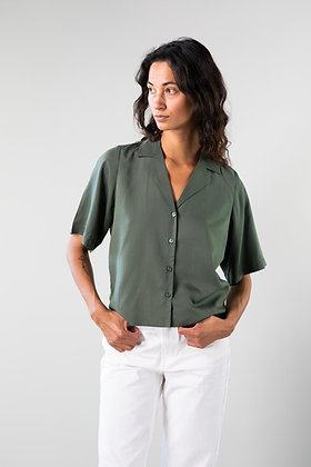 Sage Shirt Shortsleeve Bluse von Malimo