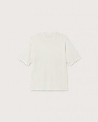 Basic Mock Shirt weiß von Thinking MU