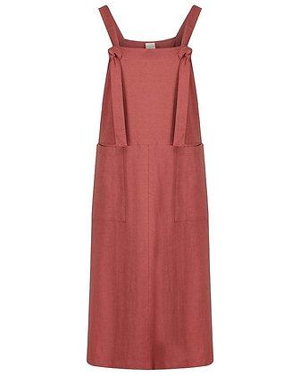 Ladies Dungarees Kleid brick von Turtledove