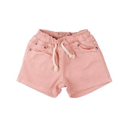 Jeans Shorts mit elastischem Bund in denim pink von Walkiddy