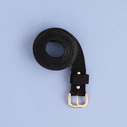 Gürtel Leather Belt BIO schwarz von Renske Versluijs