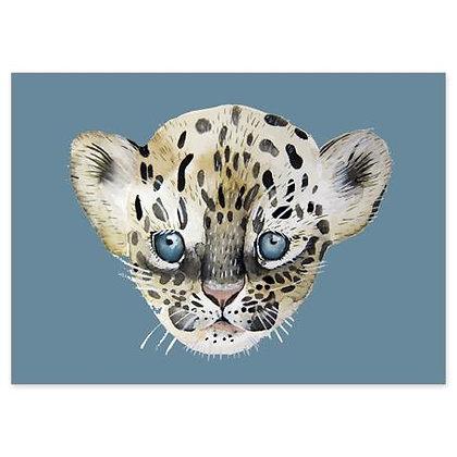 Postkarte Leopard von Nuukk