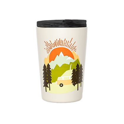 Edelstahl Kaffee Becher -Let the Adventure begin von Roadtyping