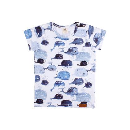 T-Shirt Baby Whales von Walkiddy