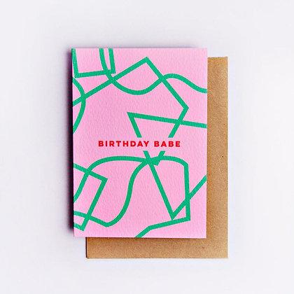 Klappkarte Birthday Babe von The Completist
