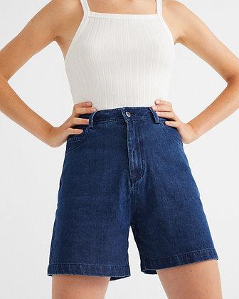 Denim Hemp Shorts in blau von Thinking Mu