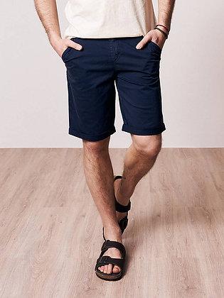 Micro-Chino Shorts in dunkelblau von Bleed