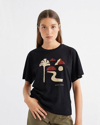 Shirt Oasis schwarz von Thinking MU