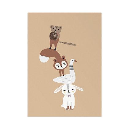 Kunstdruck Tierturm von Little Otja