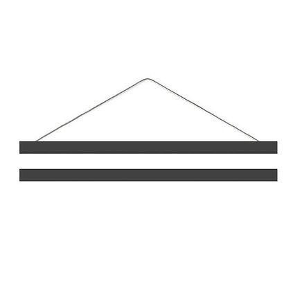 Posterleiste A3 in schwarz von Eulenschnitt