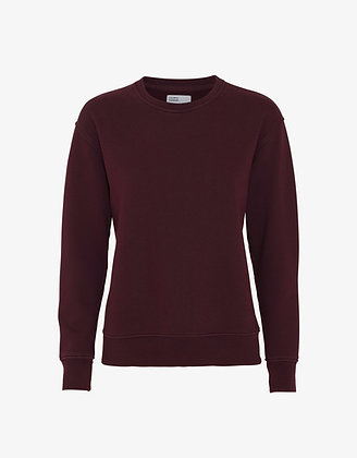 Classic Organic Sweatshirt in Oxblood Red von Colorful Stand
