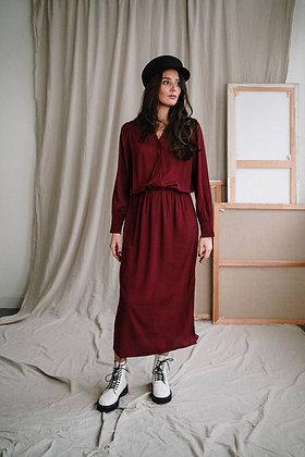Alpana Maxi dress in rhubarb von J-Label
