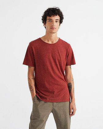 Shirt aus Hanf in rot von Thinking Mu
