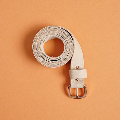 Gürtel Leather Belt BIO nude von Renske Versluijs