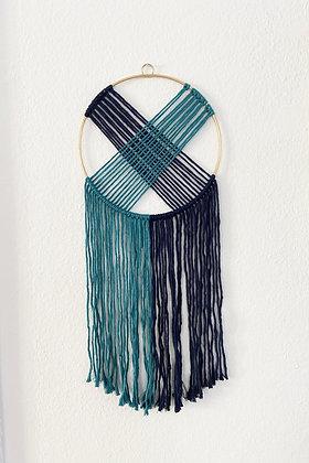 """Wandbehang """"Xea"""" in Blautönen von Knot on Me"""