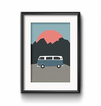 Art Print Bulli von Roadtyping