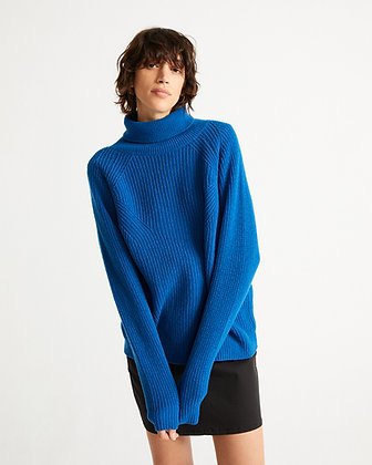 Strickpullover Mathilda in blau von Thinking Mu