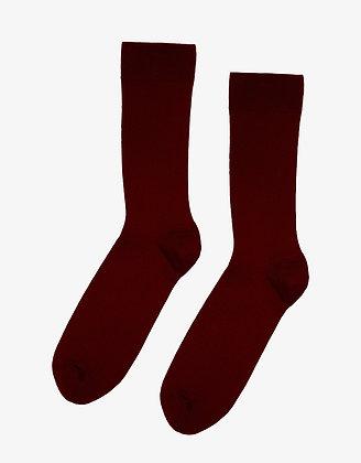 Organic Socks in Oxblood Red von Colorful Standard