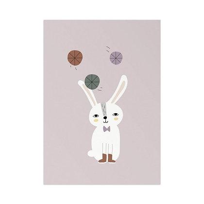Kunstdruck Jonglierhase von Little Otja