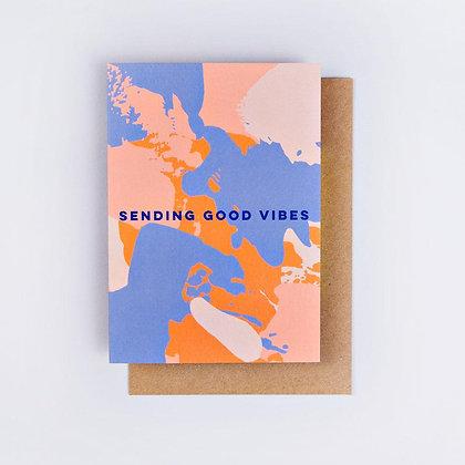 Klappkarte Good Vibes von The Completist