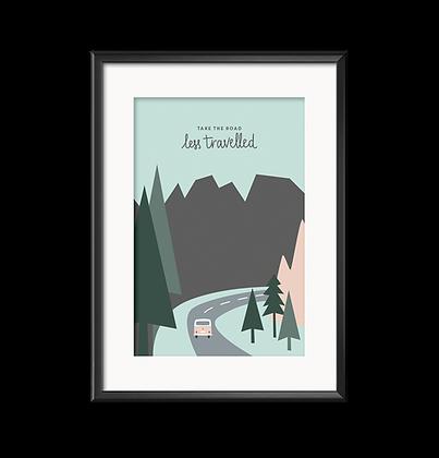 Art Print Take the Road von Roadtyping